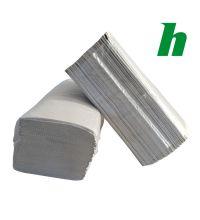Handdoekpapier Blanco recycl. naturel 1-laags ZZ-vouw 25 x 23 cm