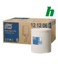 Poetspapierrol Tork Basic Paper Centerfeed 2-laags M2