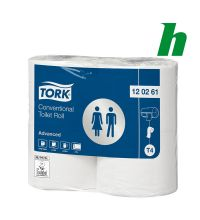 Toiletpapier Tork Conventional Roll 488 vel 2-laags wit T4