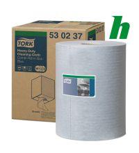 Poetspapierrol Tork Heavy Duty Cloth Combi Roll Blue 1-lgs W1/2/3