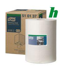 Poetspapierrol Tork Cleaning Cloth Combi Roll 1-laags W1/2/3