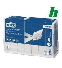 Handdoekpapier Tork Xpress Flushable Multifold 2-laags wit H2