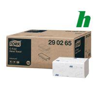 Handdoekpapier Tork Advanced C-fold 2-laags wit H3