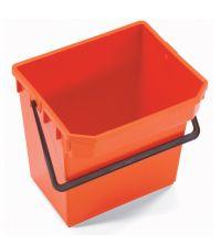 * Emmer Numatic 15 liter rood t.b.v. werkwagen