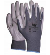 Handschoen Foam-Flex nitrile nylon grijs maat L (9)