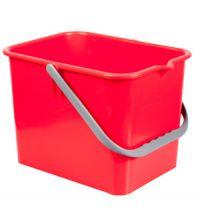 Emmer italiaans 9 liter vierkant rood t.b.v. werkwagen
