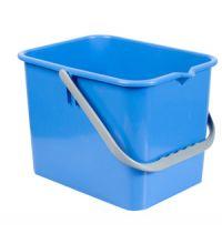 Emmer italiaans 9 liter vierkant blauw t.b.v. werkwagen