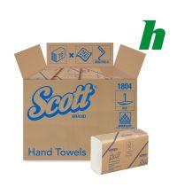 Handdoekpapier Scott 1804 Multifold 1-laags wit 23,5 x 23 cm