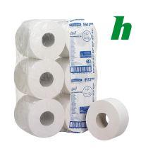 Toiletpapier jumbo Scott 2-laags 8512 tissue wit 526 vel