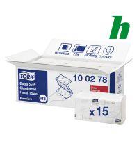 Handdoekpapier Tork Extra Soft Z-vouw 2-laags wit  H3