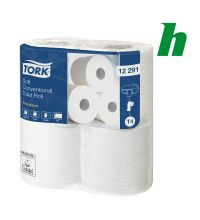 Toiletpapier Tork Soft Conventional Roll 198 vel 2-laags wit T4