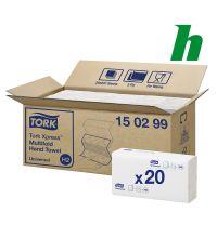 Handdoekpapier Tork Xpress Multifold 2-laags wit H2